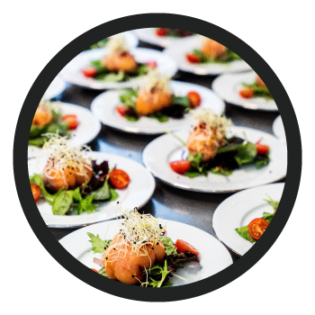 Food & Beverage Category Image - Food Set on White Plates (multiple)